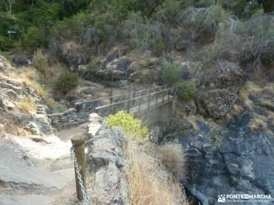 Senda de los Pescadores,Arenas de San Pedro;paso estrecho entre montañas ajustar mochila arbol taxa